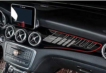 cla45 UV Schwarz Auto Aufkleber Modified Interior Control Panel Zubeh/ör 220 cla250 w117 Red Line SHES f/ür gla gla amg gla x156