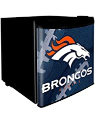 Denver Broncos 1.7 Cubic Foot Dorm Size Fridge