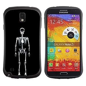 Fuerte Suave TPU GEL Caso Carcasa de Protección Funda para Samsung Note 3 N9000 N9002 N9005 / Business Style Layer X Ray Skeleton Skull