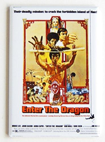 Enter the Dragon Movie Poster Fridge Magnet
