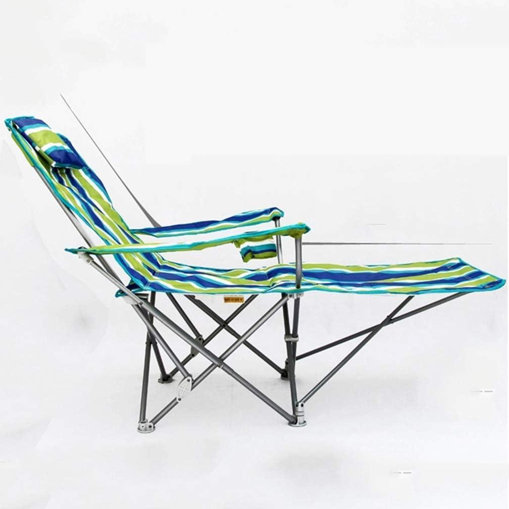 Silla Plegable para Camping Ultraligera Tumbona portátil para la Hora del Almuerzo Siesta Acompañante Cama Ocio Respaldo para jardín de Pesca