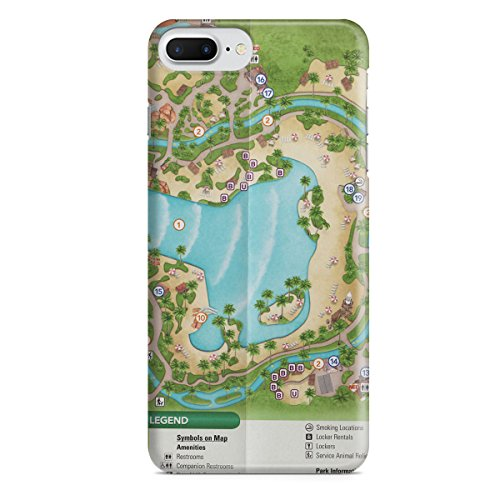 Queen of Cases Hard Shell Phone Case - Typhoon Lagoon - Map Typhoon Of Lagoon
