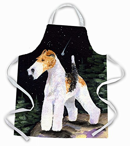 Caroline's Treasures SS8503APRON Starry Night Fox Terrier Apron, Large, Multicolor