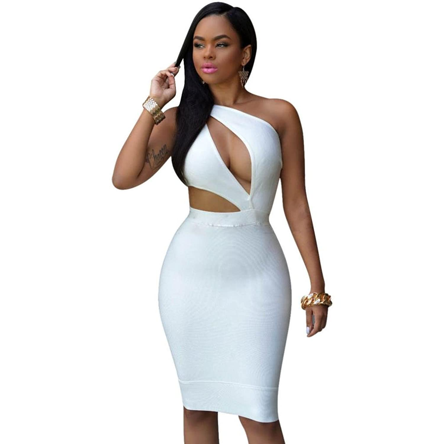Robiear Women Bandage Cocktail Bodycon Evening Party Dresses