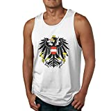 yimo Men's 3D Printed Coat of Arms of Austria Sport Styling Cotton Sleeveless T-Shirts