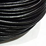 TheTasteJewelry 4mm Genuine Natural Black Leather Cord Rope Jewelry Making 10m String 4183