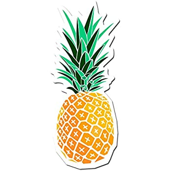 Amazon Com Pineapple Stained Glass Vinyl Decal For Cars