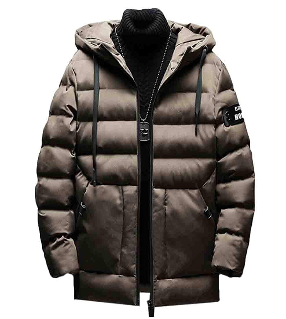 xiaohuoban Mens Packable Winter Down Jacket Hooded Puffer Outwear Lightweight Coat