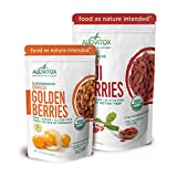 Golden Berries and Goji Berries Antioxidant & Vitamin C Combo Box - 2 Pack - The Best, Natural, and Highest Quality Certified Organic Dried Whole Raw Fruit Berry Bundle by Alovitox