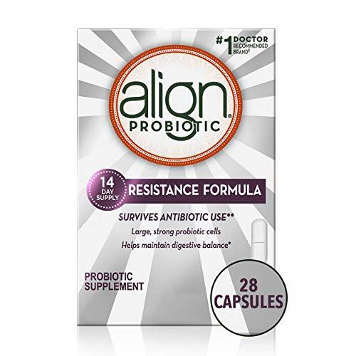 Align Resistance Formula Probiotics Supplement, Survives Antibiotic Use, 28 Probiotic Capsules, Saccharomyces boulardi CNCM1-1079, #1 Doctor Recommended Brand, 28 CT