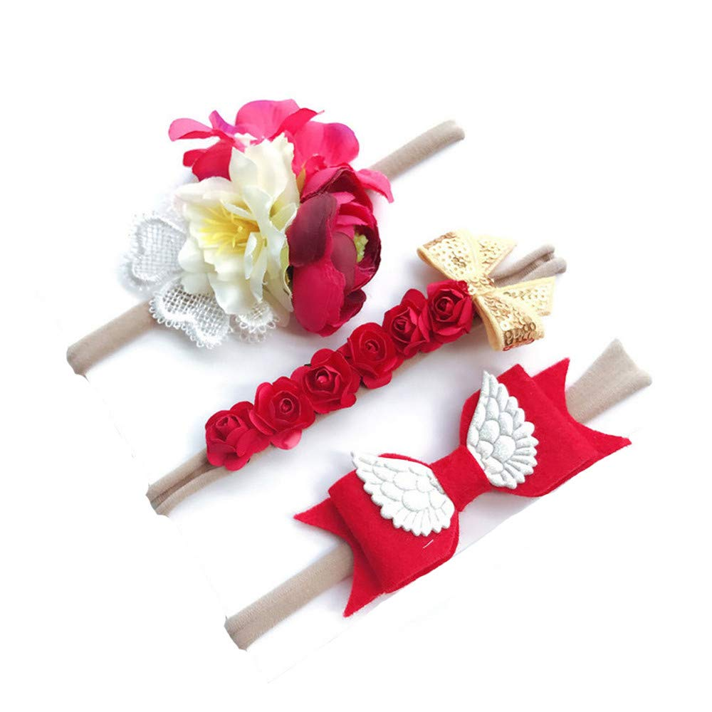 Lomsarsh 3 Teile//satz Kinder M/ädchen Baby Kleinkind Blume Stirnband Haarband Headwear M/ädchen Simulation Blume B/öhmischen Haarband Set