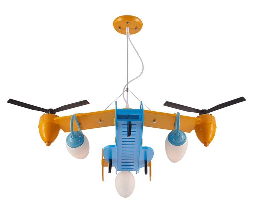 ヘリコプターのシャンデリア|ペンダントライト|子供部屋の寝室幼稚園50 * 90 CMのための鉄ランプボディ B07TYX1HDF