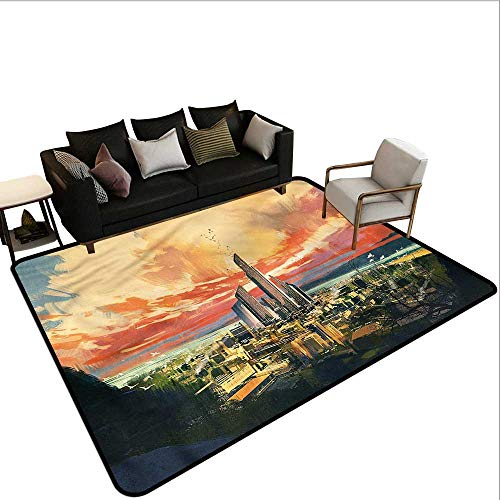 Cityscape,Floor Mat Entrance Doormat 80