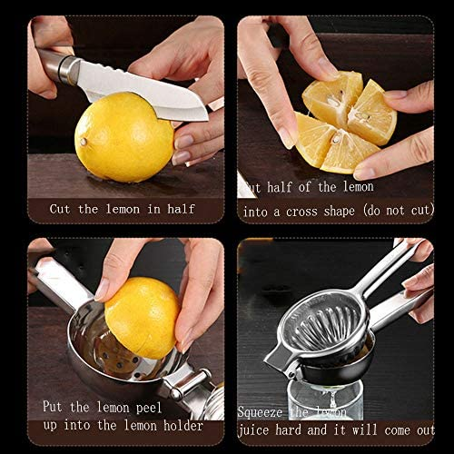 Red tide 304 De Acero Inoxidable Manual Exprimidor, No Rust/No-Deformación De Múltiples Funciones Naranja/Limón Exprimidor, Menaje Exprimidor De Metal Exprimidor