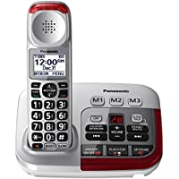 Panasonic KX-TGM450S Amplified Cordless Phone with Digital Answering Machine, 1 Handset , Silver