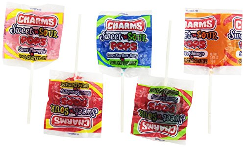 Charms 48 Pack Sweet & Sour Pops (Sour Lollipops Sweet)
