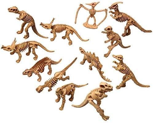 Kuou Juguete de Dinosaurio de Varios Colores de Huesos de Dinosaurio, Juguete Educativo, Huesos de Dinosaurio simulado, Juego DE 12 Piezas
