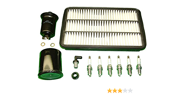 TBK Tune Up Kit Replacement for Toyota Camry V6 2003 2004 2005 2006 Oil Air Cabin Filters 6 Iridium NGK Spark Plugs PCV Valve