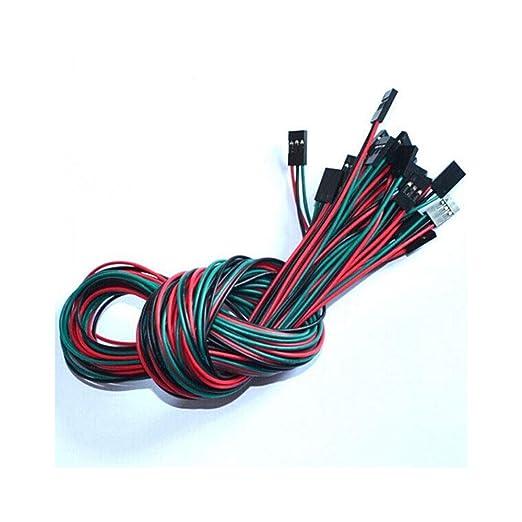 50 unidslote 70 cm 3 Pin hembra a cable de puente Dupont de cable ...