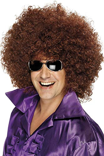 Smiffys Men's Mega-Huge Brown Afro Wig, One Size, 5020570420362