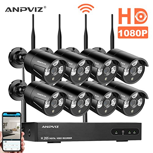 Wireless Security Camera System 8ch 1080p Nvr Kit With