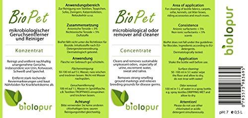neutralizador de olores - Concentrado - Biopet de biol Micropur - Un olores de soldados geruchsneutralisierend a orina de gatos, perros y otros animales ...
