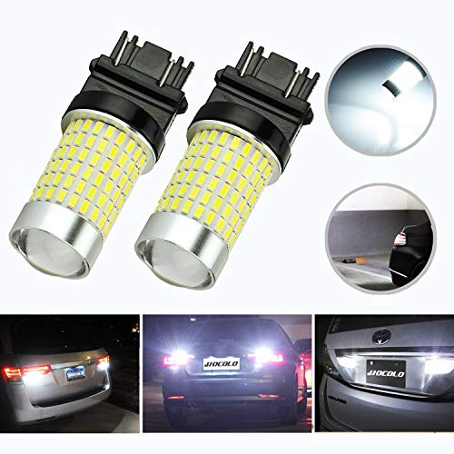 HOCOLO 1200 Lumens Extremely Bright 144-EX Chipsets 3056 3156 3057 3157 LED Bulbs with Projector for Backup Reverse Lights, Xenon - 1996 Parts Mercury Villager