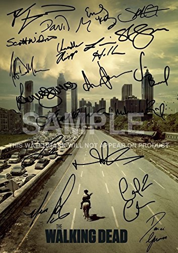 The Walking Dead Tv Print (11.7 X 8.3) Andrew Lincoln Norman Reedus Andrew Lincoln Jon Bernthal Sarah Wayne Callies Laurie Holden Steven Yeun Robert Kirkman -