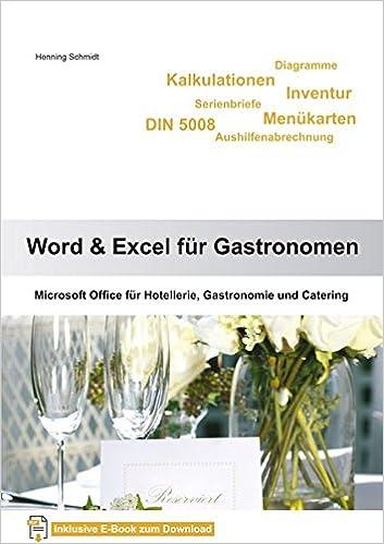 Word 2013 Und Excel 2013 Für Gastronomen Microsoft Word 2013 Und