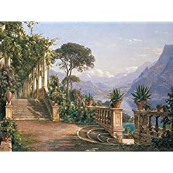 Lodge on Lake Como Poster Print by Carl Frederic Aagard (22 x 28)