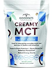 Simply GOODFats Creamy Coconut MCT Oil Powder, Unflavored Keto MCT Powder For Keto Ice Cream, Coffee, Shakes, Keto Food For Natural Slim, Keto Diet for Women and Men - 10.5 Oz