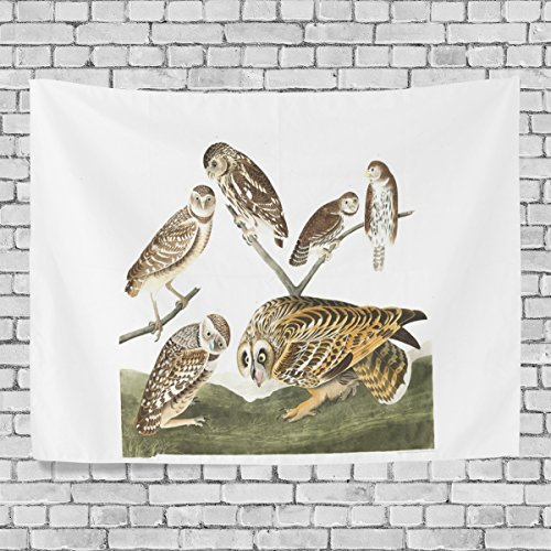 WDYSECRET Plat Burrowing Owl Canvas Custom Color Home Decoration Wall Carpet Horizontal Version Tapestry