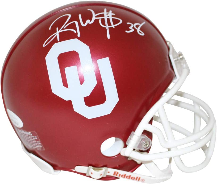 Bob Stoops Oklahoma Sooners Autographed Signed Speed Mini Helmet Sports Collectibles Authentication