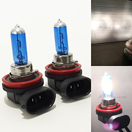 Mega Racer H11 55W White 5000K Xenon Halogen Headlight Lamp Light Bulb (Low Beam) DOT Replace Auto Car USA Seller