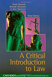 Critical Introduction to Law (New Title)