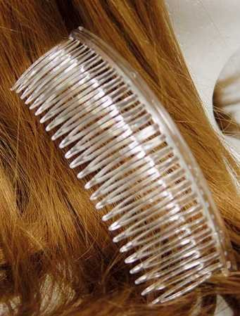 "5-1/4"" Wide Clear Acrylic Plastic Hair Combs - Pkg of 72"