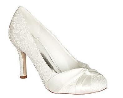Kevin Fashion - Zapatos de boda a la moda Mujer , color Rojo, talla 36.5 EU