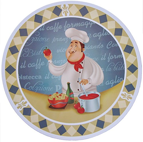 Italy Fat Pizza Chef Electric Stove Burner Covers (2)