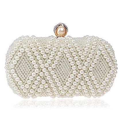 f244f735e5 Women's Evening Handbags Womens Handbag Purse Faux Pearl Cascading Bead  Clutch Fashion BagLuxury Beaded Clutch Bag