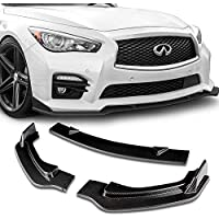 Stay Tuned Performance PU//682//PCF Carbon Fiber Print Front Bumper Body Kit Lip 3PCS Compaitble with 2020/&Up Sentra