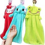 Cute Bathroom Sets A Little Lemon 3pcs Cute Animal Microfiber Kids Children Cartoon Absorbent Hand Dry Towel Lovely Towel For Kitchen Bathroom Use