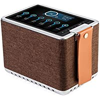 Sonicgrace WIFI Internet Radio Bluetooth Speaker with 8 High Definition Touchscreen, HD Sound Extra Bass Music Player for Stream Music(Brown)