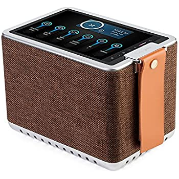 """Sonicgrace WIFI Internet Radio Bluetooth Speaker with 8"""" High Definition Touchscreen, HD Sound Extra Bass Music Player for Stream Music(Brown)"""