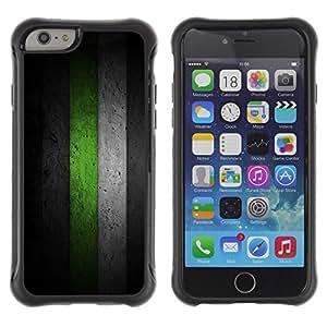 Suave TPU GEL Carcasa Funda Silicona Blando Estuche Caso de protección (para) Apple Iphone 6 / CECELL Phone case / / Black & Green Minimalist Pattern /