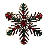 Yodio Christmas Brooch Fashion Personality Rhinestones Winter Style Cute Brooch Fun Little Gift 1PCS