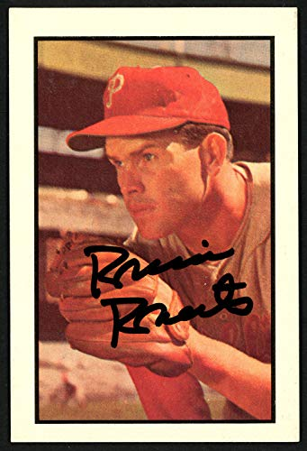(Robin Roberts Autographed Signed Memorabilia 1983 1953 Bowman Reprint Card #65 Philadelphia Phillies 149917 - Certified Authentic)