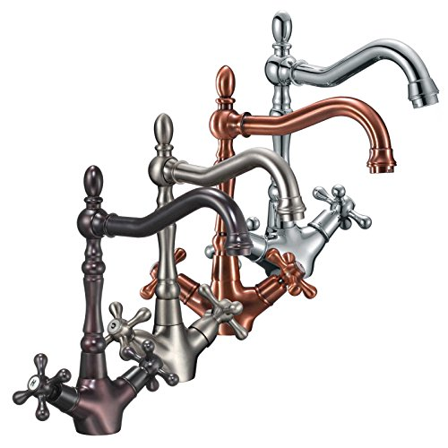 - FREUER Bellissimo Collection: Classic Kitchen/Wet Bar Sink Faucet, Brushed Nickel