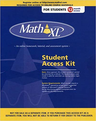 mathxl student access kit 9780201716306 amazon com books