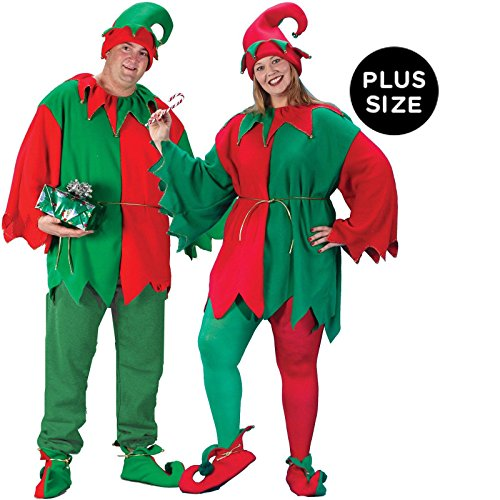 Elf Set Costume - Plus Size - Chest Size 48-53 (Adult Plus Size Costume)