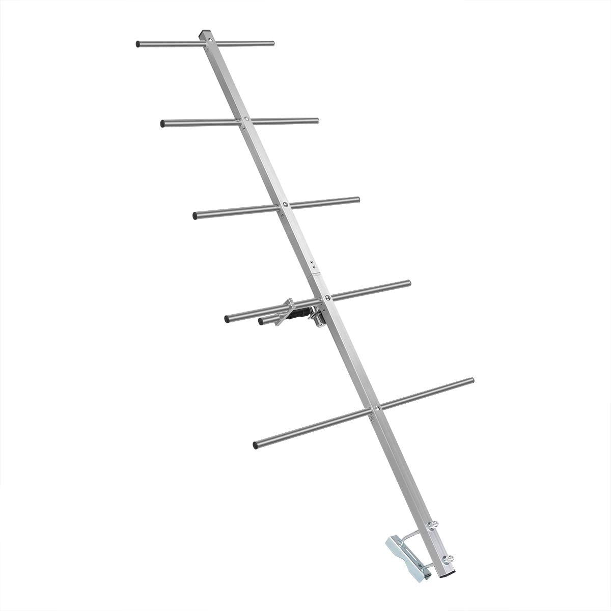 Plata, 1 Pieza Ailunce AY03 Yagi Antena Alta Ganancia 9 dBi UHF Hembra 5 Elementos Antena Direccional Compatible con Ailunce HD1 Compatible con Retevis RT29 RT87 RT3S TYT MD-380 UV-5R